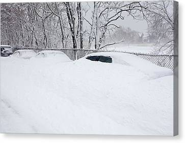 Winter Storm Nemo, February 2013, Usa Canvas Print by Science Photo Library
