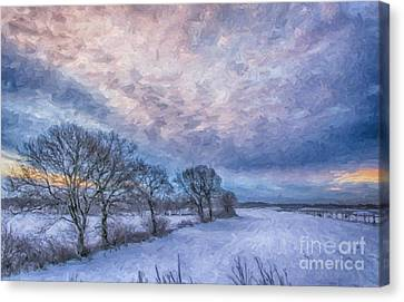 Winter Sunrise Canvas Print by Antony McAulay