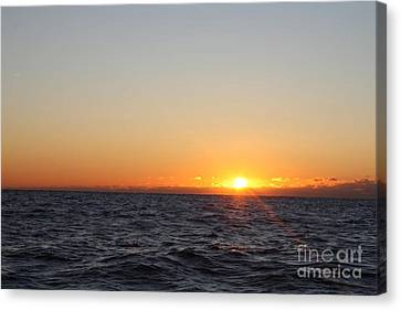 Winter Sunrise Over The Ocean Canvas Print