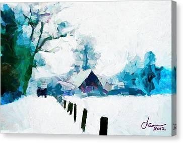 Winter Tales Tnm Canvas Print by Vincent DiNovici
