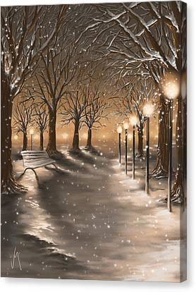 Winter Canvas Print by Veronica Minozzi