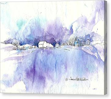 Winter White Canvas Print by Joan Hartenstein