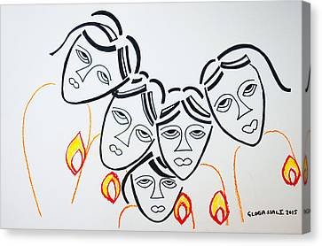 Keys To Heaven Canvas Print - Wise Virgins by Gloria Ssali