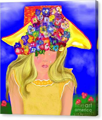 Canvas Print featuring the painting Wishing You Were Here by Lori  Lovetere