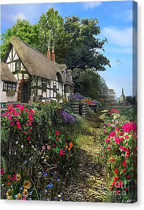 Wisteria Cottage Canvas Print