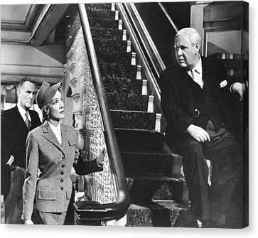 Witness For The Prosecution, From Left Canvas Print by Everett