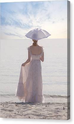 Woman At The Beach Canvas Print by Joana Kruse