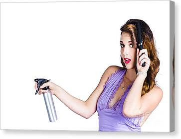 Woman Brushing Her Hair  Canvas Print