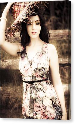 Woman From A Past Vintage Summer Canvas Print by Jorgo Photography - Wall Art Gallery
