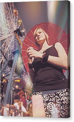 Woman Holding Parasol Canvas Print by Jorgo Photography - Wall Art Gallery