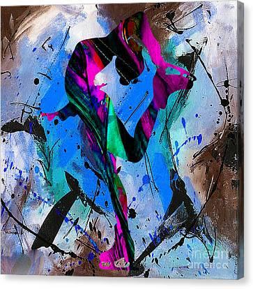 Woman Ice Skater Canvas Print