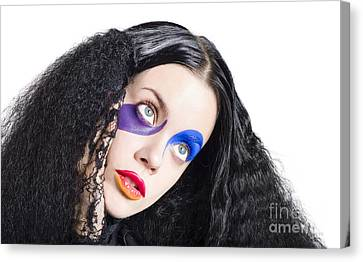 Woman In Colorful Fashion Make Up Canvas Print by Jorgo Photography - Wall Art Gallery