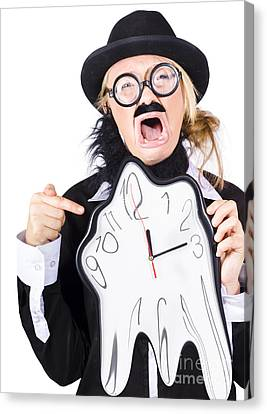 Woman Running Out Of Time Canvas Print by Jorgo Photography - Wall Art Gallery