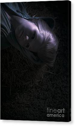 Moonlit Canvas Print - Woman Sleeping Under Moonlight by Jorgo Photography - Wall Art Gallery