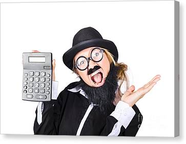 Woman Tax Accountant Canvas Print by Jorgo Photography - Wall Art Gallery