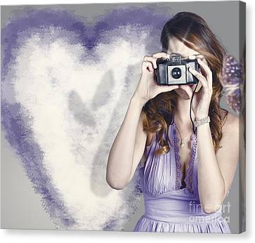 Woman With Camera. Love In A Still Frame Capture Canvas Print by Jorgo Photography - Wall Art Gallery