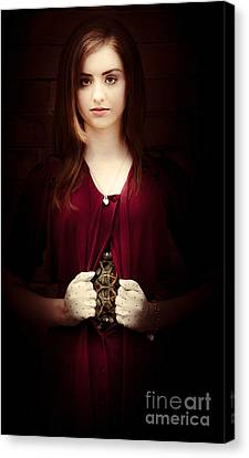 Woman With Mechanical Body Canvas Print