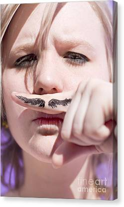 Woman Working Undercover Canvas Print by Jorgo Photography - Wall Art Gallery
