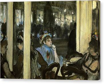 Women On A Cafe Terrace Canvas Print