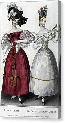 Women's Fashion, 1829 Canvas Print by Granger