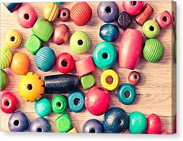 Component Canvas Print - Wooden Peices by Tom Gowanlock