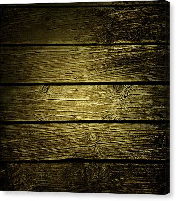 Wooden Planks Canvas Print by Les Cunliffe