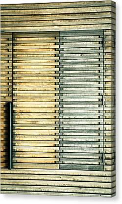 Wooden Shutters Canvas Print by Tom Gowanlock
