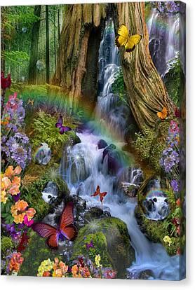 Woodland Forest Fairyland Canvas Print by Alixandra Mullins
