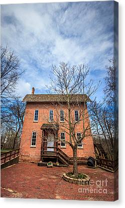 Wood's Grist Mill In Deep River County Park Canvas Print by Paul Velgos