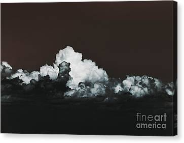 Canvas Print featuring the photograph Words Mean More At Night by Dana DiPasquale