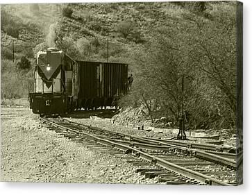 Work Train In Clarkdale Arizona Canvas Print