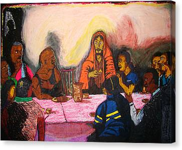 Working People's Last Supper Canvas Print