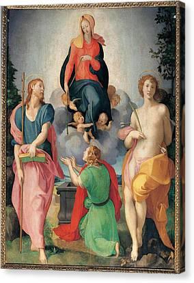 Workshop Carrucci Jacopo Detto Il Canvas Print by Everett