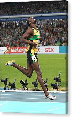 Sprinter Canvas Print - World Athletics Championships, Korea by Science Photo Library