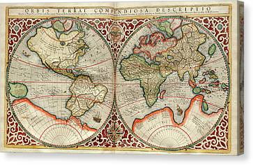 World Map Canvas Print by Library Of Congress, Geography And Map Division