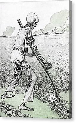 World War I Cartoon Canvas Print by Granger