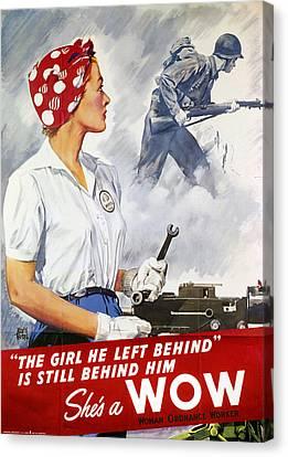 World War II Poster Canvas Print by Granger