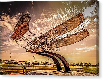Wright Flyer At Sunset Canvas Print