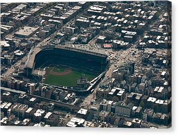 Wrigley Field From The Air Canvas Print by Anthony Doudt