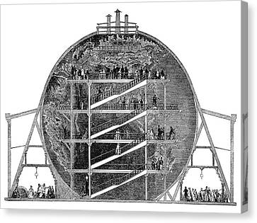 Wyld's Great Globe, 1851 Canvas Print by Granger