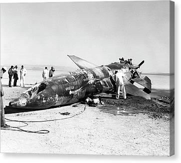 X-15 Aircraft Crash Site Canvas Print by Nasa