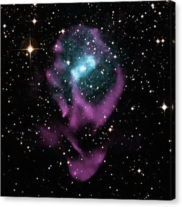 Binary Canvas Print - X-ray Binary Stars by Nasa/cxc/univ. Of Wisconsin