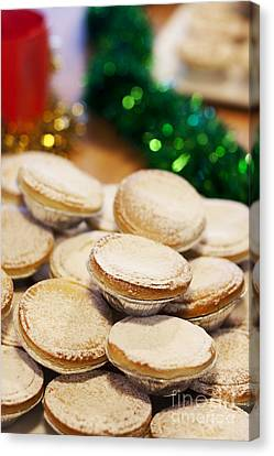 Xmas Mince Pies Canvas Print by Jorgo Photography - Wall Art Gallery