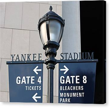 Yankee Stadium Sign Post Canvas Print by Aurelio Zucco