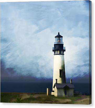 Yaquina Head Light Canvas Print by Carol Leigh