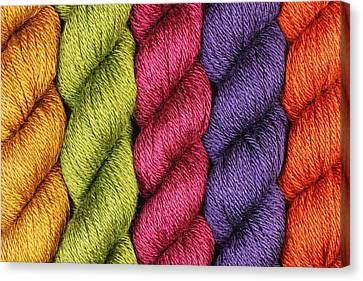 Yarn With A Twist Canvas Print by Jim Hughes