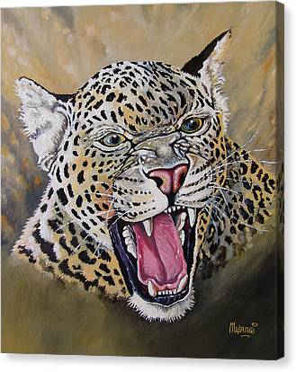 Canvas Print featuring the painting Yawn by Anthony Mwangi