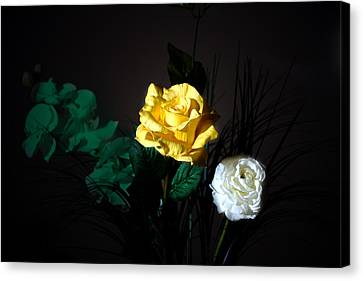 Canvas Print - Yellow And White by Cecil Fuselier