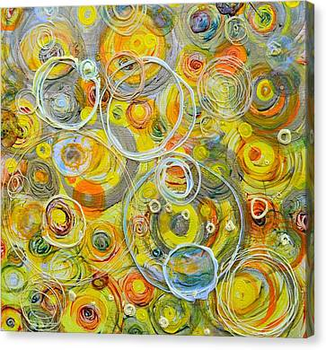 Counterpoint Canvas Print - Yellow Counterpoint by Regina Valluzzi