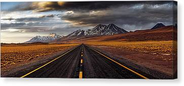 Andes Canvas Print - Yellow Road by Adhemar Duro